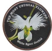 1  Shilling (White Egret Orchid) – reverse