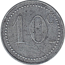10 Centimes (Chambers of Commerce Coinage) – reverse