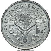 5 Francs (Piedfort Essai) – reverse