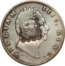 Indian Rupee counterstamped (William IV) – obverse