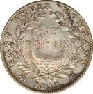 Indian Rupee counterstamped (William IV) – reverse