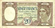 20 Francs (dark blue text) – obverse