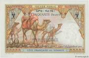 50 Francs (Côte Française des Somalis) – reverse
