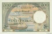 500 Francs (Côte Française des Somalis) – obverse