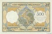 500 Francs (Côte Française des Somalis) – reverse