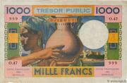 1 000 Francs (Côte Française des Somalis) – obverse