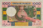 1 000 Francs (Côte Française des Somalis) – reverse