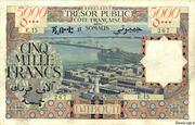 5 000 Francs (Côte Française des Somalis) – obverse