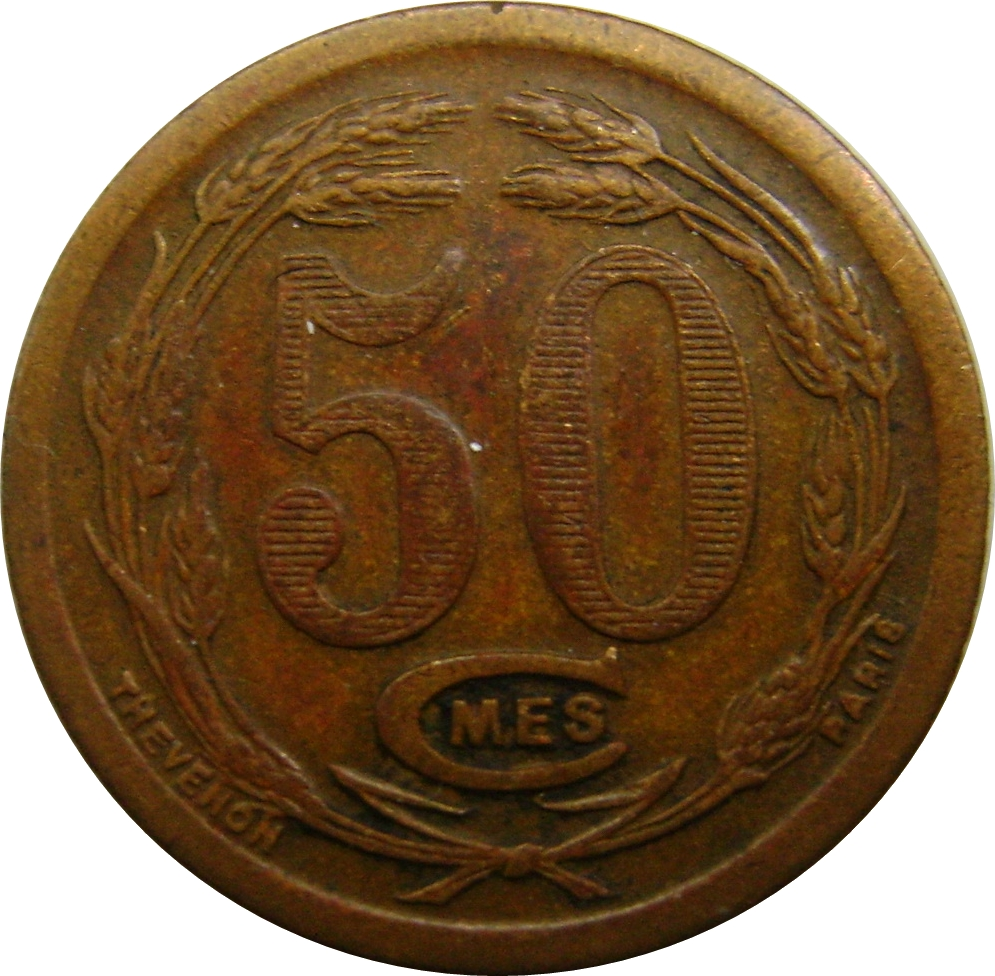 50 centimes chambers of commerce coinage french for Chambre de commerce djibouti