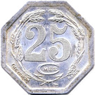 25 Centimes (Chambers of Commerce Coinage) – reverse