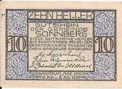 10 Heller (Sonnberg) – obverse