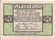 20 Heller (Sonnberg) – obverse