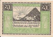 20 Heller (Sonnberg) – reverse