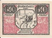 50 Heller (Sonnberg) – reverse