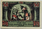 50 Pfennig (Puppetry Series - Issue D) – reverse