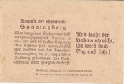 20 Heller (Sonntagberg) – reverse