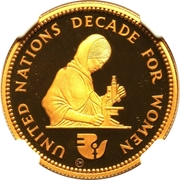 100 Pounds (Decade for Women) – obverse
