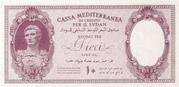 10 Lire (Italian occupation) – obverse