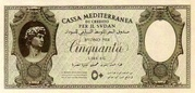 50 Lire (Italian occupation) – obverse