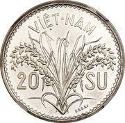 20 Su - Bảo Đại (Piefort Essai) – reverse