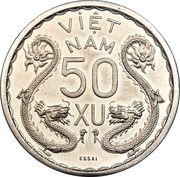 50 Xu - Bảo Đại (Piefort Essai) – reverse