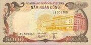 5000 Đồng – obverse