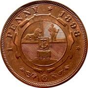 1 Penny (Zuid Afrikaansche Republiek) – reverse