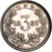 3 Pence (Zuid Afrikaansche Republiek) – reverse