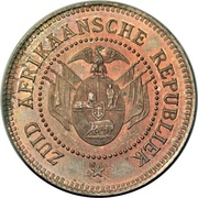 1 Penny (Zuid Afrikaansche Republiek; Transvaal Pattern) – obverse