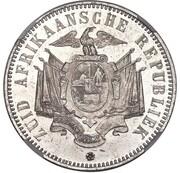5 Shillings (Zuid Afrikaansche Republiek; Transvaal Pattern) – reverse