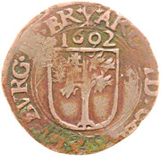 1 Duit - Albert & Isabella ('s Hertogenbosch) – reverse