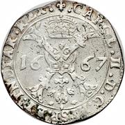 1 Patagon - Carlos II – obverse