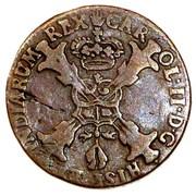1 Duit - Carlos II (Antwerpen) – obverse