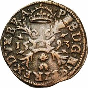 1 Duit - Felipe II – obverse