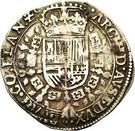 ½ Patagon - Carlos II – reverse