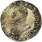 "½ Ecu ""Philipsdaalder"" - Felipe II – obverse"