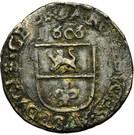 1 Duit - Albert & Isabella (Roermond) – reverse