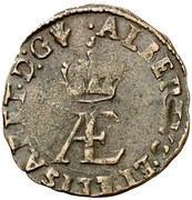 Double denier - Albert & Isabella – obverse