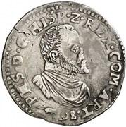 ½ Écu - Felipe II – obverse