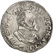 Demi-écu - Felipe II – obverse