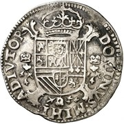 ½ Écu - Felipe II – reverse