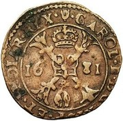 1 Duit - Charles II (Antwerpen) – obverse