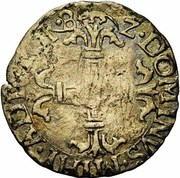 ¼ Écu - Felipe II – reverse