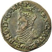 1 Liard - Felipe II – obverse