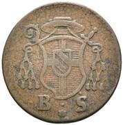 2 Pfennig - Franz Christoph von Hutten – obverse