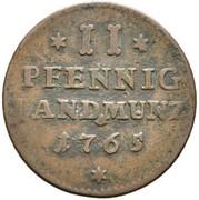 2 Pfennig - Franz Christoph von Hutten – reverse
