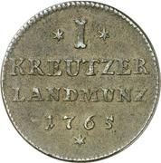 1 Kreuzer - Franz Christoph, Freiherr von Hutten zu Stolzenberg – reverse