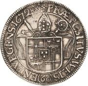 60 Kreuzer - Lothar Friedrich von Metternich – reverse