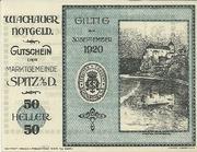 50 Heller (Spitz an der Donau) – obverse