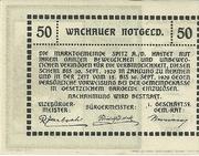 50 Heller (Spitz an der Donau) – reverse